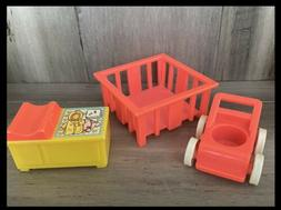 Vintage Fisher Price Little People Nursery Changing Table Pl