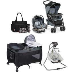 Walk Out Travel System Set Stroller with Car Seat Playpen Di
